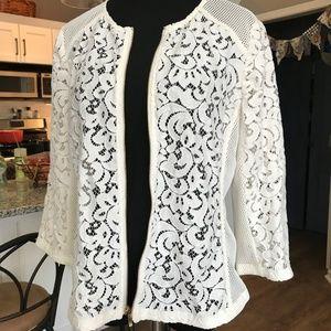 Chico cream lace jacket Size 1